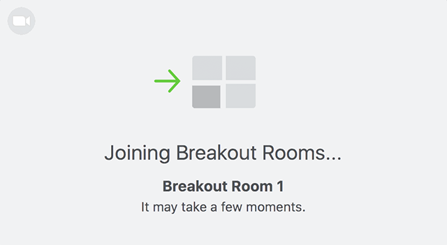 zoom screenshot showing joining a breakout room window