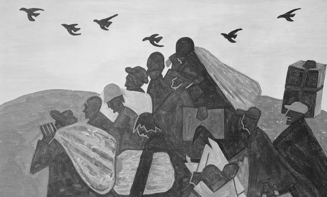 Negroes were leaving by the hundreds to go north and enter northern industry, by Jacob Lawrence