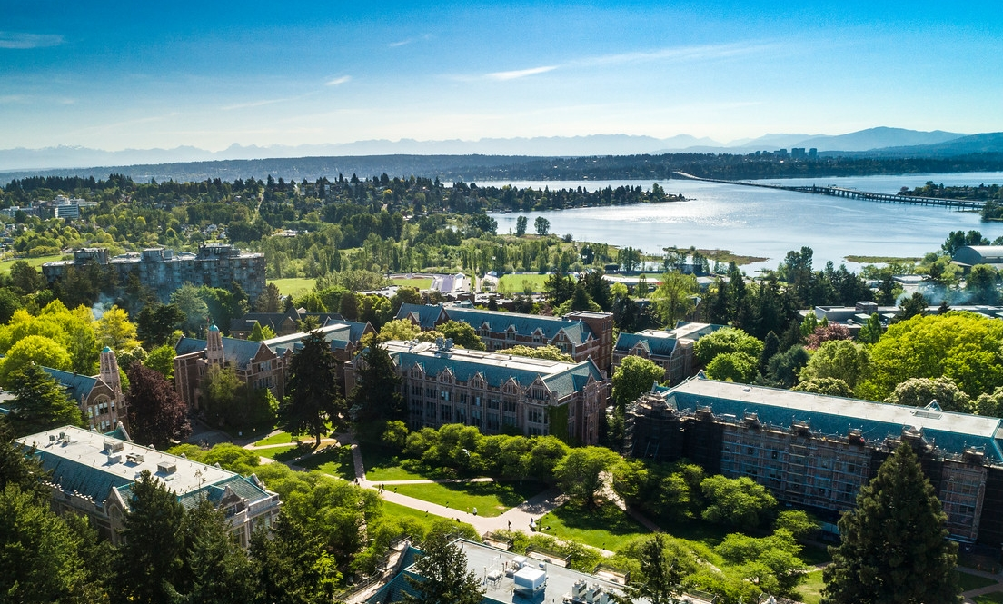 Aerial view of the UW campus