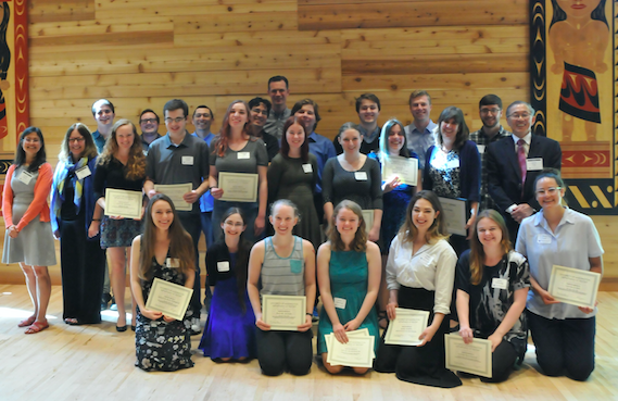 Twenty-nine undergraduate and four graduate students were recognized for their scholarship, teaching and service to the field at the Department of History Awards on May 10, 2017