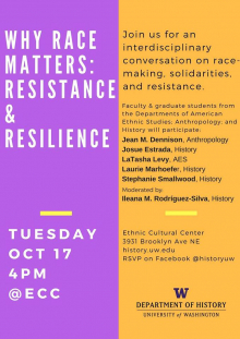 'Why Race Matters' flyer