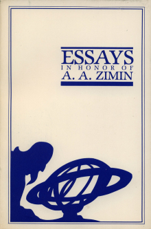 Essays in Honor of A.A. Zimin (Columbus, OH: Slavica, 1985)