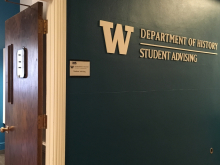 Entrance to UW Department of History Advising Office