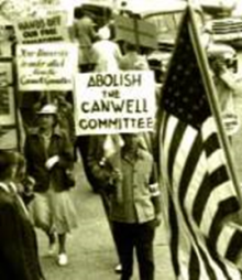 Canwell Commission protest