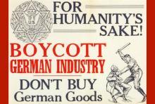 Boycott German Goods poster