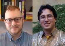 profile images of history grad students Adrian Kane-Galbraith (left) and Jorge Bayona