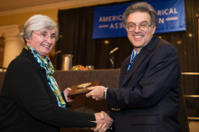 Professor Patricia Ebrey receiving award