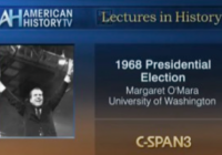 C-SPAN preview shot for lecture by Professor Margaret O'Mara