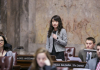 UW History Alum Cynthia Meng speaks on the senate floor during her internship with the Washington State Legislature.