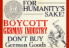 Boycott German Goods poster