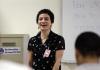 Katja Schatte teaching prisoners