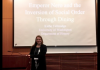 Undergraduate student Kathe Tallmadge presents her research on Ancient Rome