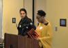 Organizers Stephanie Smallwood (right) and Ralina Joseph